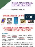 Construction material notes for tamilnadu goverment exam