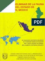 Listado preliminar de la fauna silvestre del estado de Nuevo León, México.