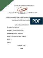 La Ley General Del Presupuesto Derecho Financiero