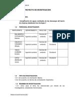 Proyecto de Investigacion Procesos Quimicos 2017ii