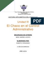 El Chaco en El Control Administrativo