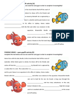 Finding Nemo Open Gap Fill