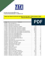 Lista de precios ND + Combos