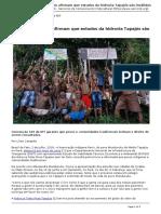 Servindi - Servicios de Comunicacion Intercultural - Brasil Munduruku Afirmam Que Estudos Da Hidrovia Tapajos Sao Invalidos - 2018-07-02
