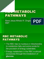 RBC METABOLIC PATHWAYS