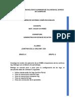 Investiga Los Modos de Operación de Un SGBD e Importancia de Los Archivos Log