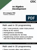 Grassman Algebra in Game Development