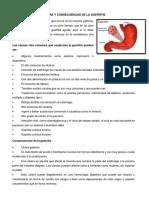 Causas y Consecuencias de La Gastritis
