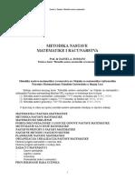 Metodika Nastave Matematike - Poglavlje 1