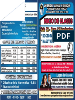 Volante 2016-2 Ate - Chaclacayo