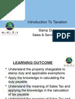 Stamp Duty, SAles Tax & Service Tax - Week 6