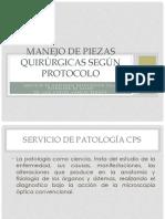 Manejo de Piezas Quirúrgicas Según Protocolo