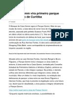Bosque Gomm Vira Primeiro Parque Comunitário de Curitiba