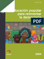Educación Popular Para Reinventar La Democracia-