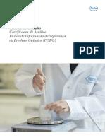 FISPQ_EXTERNO Guia de Orientação - Certificados de Análise