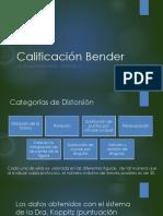 Calificacion Bender