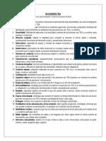 Diccionario Curso TEA