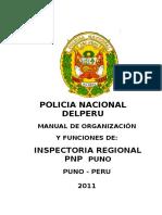 Mof de La Inspectoria Regional Puno