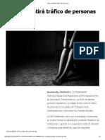 OIM Combatirá Tráfico de Personas