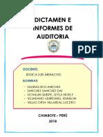 El Dictamen de Auditoria1