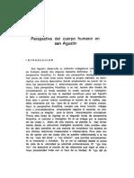 Raul R. Iriarte, Perspectiva Del Cuerpo Humano en San Agustín
