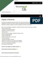 Argilas e Minerais - Sementes de Gaia - Saboaria Artesanal Natural