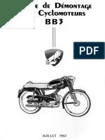 Notice de Demontage Des Cyclomoteurs BB3 Peugeot