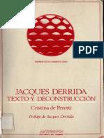 De Peretti Cristina - Jacques Derrida - Texto Y Deconstruccion.pdf