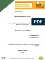Reflexión 4 La Aplicación y El Cumplimiento de Las Normas en La Elaboración de Los Contratos