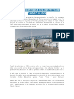 Reseña Historica Del Distrito de Ciudad Nueva