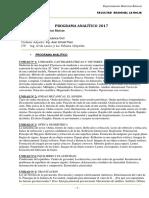 Física I Programa 2017
