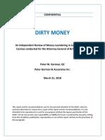 BC's Dirty Money - Peter German QC - Gaming Final Report