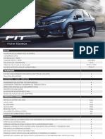Honda Fit 2019 - Ficha técnica