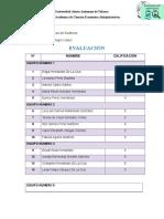 Lista de Evaluación
