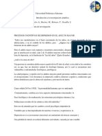 PROCESOS COGNITIVOS DE DEPRESIÓN EN EL ADULTO MAYOR