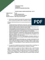 Examen de Unidad i Diseño Organizacional 2017 II Industrial