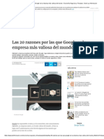 Las 20 Razones Por Las Que Google Es La Empresa Más Valiosa Del Mundo - Economía Negocios y Finanzas - Diario La Informacion