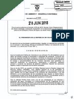Decreto 1090 Del 28 de Junio de 2018