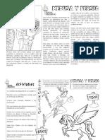 fichas de actividades compr. lectora mitos griegos septimo