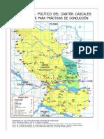 Mapa Físico - Político Del Cantón Cascales