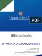 La Familia en La Educación Superior