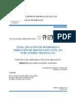 Estacion de Bomberos y Direccion de Proteccion Civil en Puruandiro Michoacan