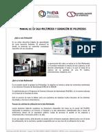 MANUAL DE LA SALA MULTIMEDIA Y GRABACIÓN DE POLIMEDIAS - Udelar