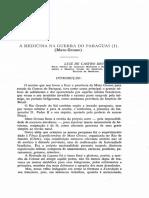 A Medicina Na Guerra Do Paraguai I Mato-Grosso