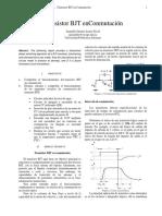Transistor BJT en Conmutacion
