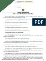 Direito Constitucional - CNJ - Conselho Nacional de Justiça