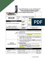 Trabajo Aplicativo - Dº Procesal Penal I