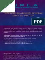 TERMINACIÓN DE LA RELACIÓN DE TRABAJO POR CAUSAS OBJETIVAS.pptx