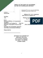 Affidavit of AD Re Coram Vobis