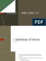 DAO 2007-17 (SAPA)